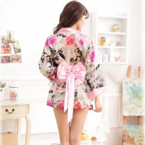 【ピンク/2】送料無料 ピンク帯  着物 花魁 コスプレ コスチューム 仮装 衣装  着物ドレス 着物セット