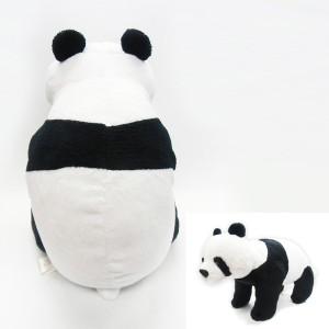 赤ちゃんパンダぬいぐるみ (REAL PANDA,リアルパンダ,あかちゃんパンダ,ヌイグルミ,可動式,お座り,よつんばい,ゴロン)