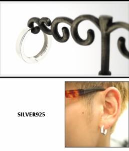 シンプルプレーン(大)シルバーフープピアス (1P/片耳用) シルバー925/メンズ/レディース/ピアス/片耳