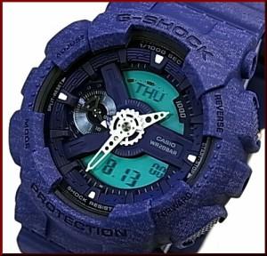 カシオ/G-SHOCK【CASIO/BABY-G】ペアウォッチ 腕時計 ネイビー/ライトブルー【国内正規品】GA-110HT-2AJF/BA-110CA-2AJF