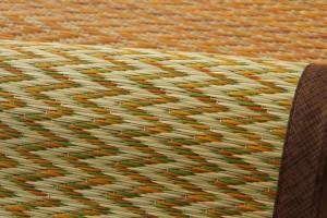 い草花ござカーペット「DXニューピア」江戸間4.5畳(261×261cm)い草ラグ い草カーペット い草 カーペット 畳 上敷 イ草