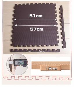 [価格破壊]ジョイントマット 大判 60cm 3畳 16枚組 EVA 高品質 防音 ぼうおん 安心 フロアマット プレイマット 断熱 クッショ