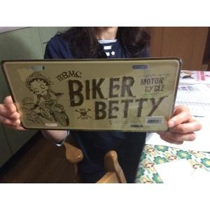 ベティーちゃん Betty Boopコマーシャルプレート ( CMP003)ベティ ベティブープ ベティちゃん ガレージ雑貨  サインプレート 看板