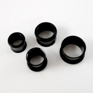 ボディピアス 直径11mmのシングルフレアブラックアイレット ボディーピアス