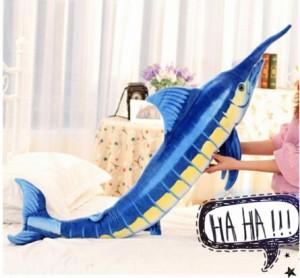 藍マカジキマカジキ抱き枕子供男の子お誕生日ぬいぐるみ 動物ぬいぐるみ クリスマスおもちゃ店飾り100cm