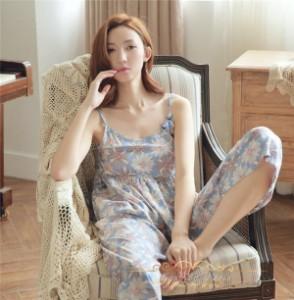 期限限定送料無料!レディース可愛いパジャマ部屋着 花柄ルームウェア寝間着 涼しい 3点セットナイトウェア 綿