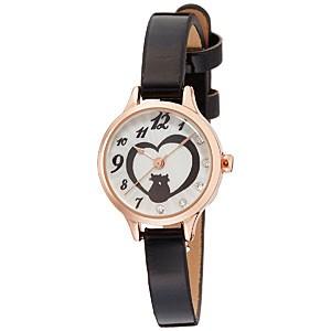 ◆ラッピングサービス♪フィールドワーク 腕時計 ウォッチ【アリスト】黒猫 ハート ブラック FSC106-5