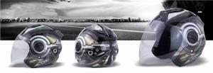 バイクヘルメット バイク用 高密度ABS ジェット 3/4ヘルメット ハーレー サングラス付き 春 夏 秋 冬 PSC付き【送料無料】SJ
