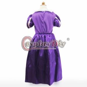 高品質 高級コスプレ衣装 ディズニー 塔の上のラプンツェル 風 プリンセス ラプンツェル タイプ ドレス 子供サイズ Rapunzel dress Ver.3