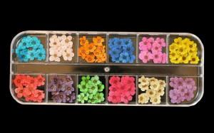 ドライフラワー 素材 ネイル セット 押し花 大花 レジンアート ケース入り (12色×各5枚)