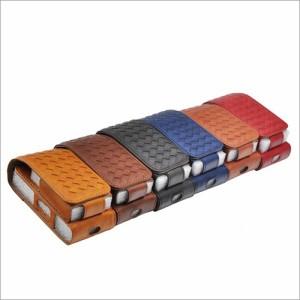 アイコス ケース iQOS PUレザー 編みこみ 収納 マグネット カバー 充電口 残量ランプ表示 合皮 専用ケース 送料無料!