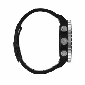 ニクソン NIXON 腕時計 48-20 A486180 シルバー×ブラック 並行輸入品 【送料無料】