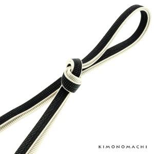 正絹 三分紐「三分紐 黒×白」 帯締め 洒落小物 組紐
