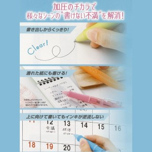 【ダウンフォース】どんな向きでもタフに書ける!ノック 加圧 ボールペン◆0.7mm/黒インキ/油性/BDWR-40F【パイロット】