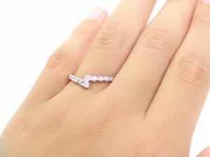 ダイヤリング ホワイトゴールドk10 ピンキーリング ダイヤモンド 10石 指輪  k10wg ダイヤ 0.12ct  結婚記念日のプレゼントに最適