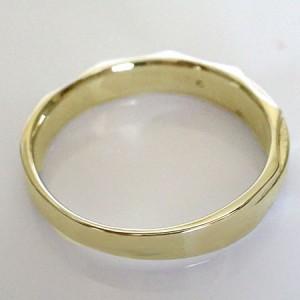 ダイヤモンド イエローゴールドk18 ペアリング 2本セット 結婚指輪 マリッジリング K18 ダイヤ 0.03ct