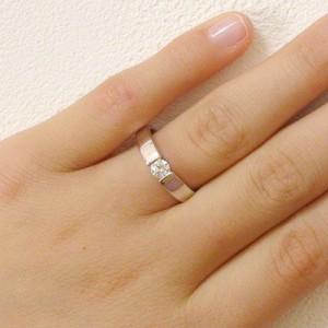 鑑定書付 ダイヤモンド プラチナ 婚約指輪 エンゲージリング 0.3ct F-VS2-EX PT900 ダイヤ 指輪
