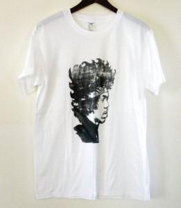 メンズ 半袖 Tシャツ ロック 映画 Tシャツ MOVIE Tee 【ジミ・ヘンドリックス Jimi Hendrix】 ホワイト