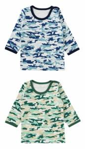 ベビー服 赤ちゃん 服 ベビー インナー 男の子 70 80 90 95 100 恐竜迷彩長袖インナーシャツ