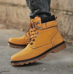 2016 秋 冬メンズブーツ 裏起毛 防寒靴 カジュアルブーツ ハイカットブーツ メンズ 靴 防寒