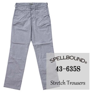 SPELLBOUND:夏用 ストレッチ コードレン スタンダードトラウザー(ネイビー):43-635S スペルバウンド JEANS