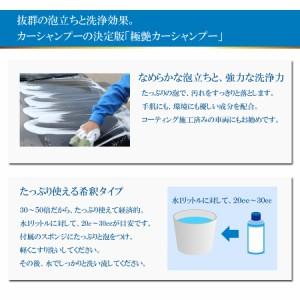 極艶カーシャンプー Mサイズ 洗車 希釈シャンプー