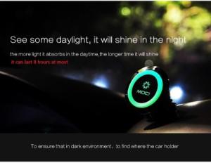 スマホホルダー 車載 マグネット 夜 光る おしゃれ スマホ スタンド ホルダー 360度回転 車 ダッシュボード