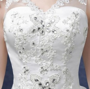 ウエディングドレス  二次会  安いプリンセスライン エンパイア 花嫁 プリンセス 結婚式 披露宴 ロングドレス ブライダル