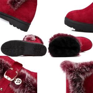 ブーツ 厚底 厚底シューズ 小さいサイズ靴 パンプス ブーツ 厚底 厚底 ブーツ 厚底 ショートブーツ ウェッジソール ムートンブーツ