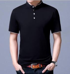 2枚送料無料メンズTシャツ/スタンドカラー/カットソー男性カジュアルシャツ/ポロシャツTシャツ短袖tシャツ半袖T-shirtカッコイイ無地