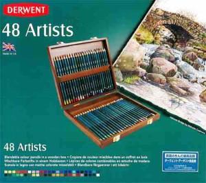 「送料無料20%off」ダーウェントアーチストカラーペンシル色鉛筆48色ウッドボックスセット