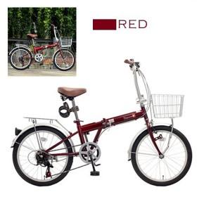 送料無料★TOPONE 20インチ折り畳み自転車 シマノ外装6段変速カゴ・カギ・ライトセット KGK206LL