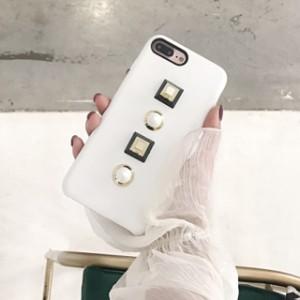 スクエア ラウンド スタッズ iPhone シェルカバー ケース ★ iPhone 6 / 6s / 6Plus / 6sPlus / 7 / 7Plus ★ [NW077]