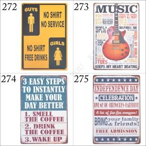 メール便 送料無料 ブリキ看板 文字 MUSIC ギター 20×30cm ビンテージ メタルサインプレート カフェ バー アメリカン TIN SIGN =┃