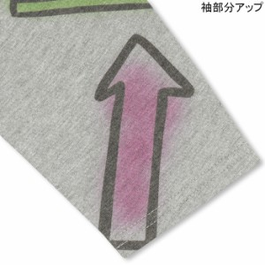 NEW♪親子ペア★スプレーロゴ7分ロンT-大人 男女兼用 レディース メンズ ベビードール 子供服-9406A