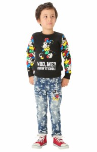 FW_SALE50%OFF ディズニー 総柄抜染デニムロングパンツ-ベビーサイズ キッズ ベビードール 子供服/DISNEY-8680K