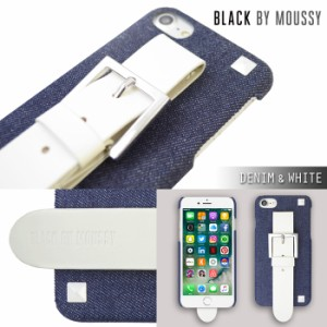 iPhone8 iPhone7/6s/6 【BLACK BY MOUSSY/ブラックバイマウジー】 「ベルトつき背面ケース」