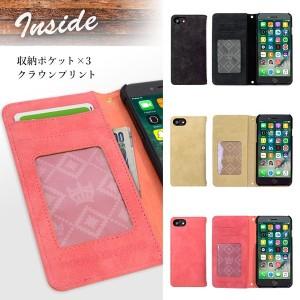 iPhone8 iPhone7/6s/6 【RODEOCROWNS/ロデオクラウンズ】 「スエード」 手帳型ケース