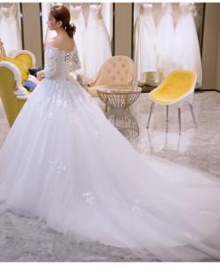 2017豪華なパーティドレス/ノースリーブドレス/ウェディングドレス/花嫁/結婚式/披露宴/ロングワンピース/二次会/ウェディングドレス