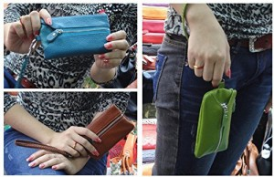 牛革を使用した多機能キーケース 牛革製 お財布つき6連キーケース