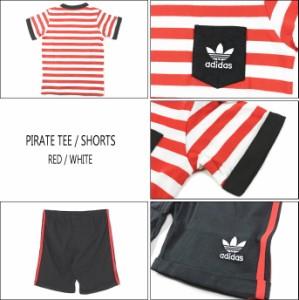 30%OFF 子供 アディダス adidas PIRATE TEE/SHORTS パイレーツ Tシャツ/ショーツ レッド/ホワイト S14362