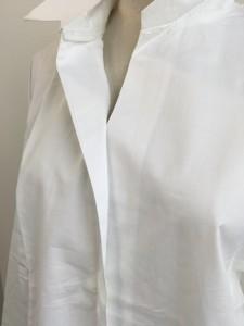 スキッパーシャツ ロングシャツ ブラウス ライトアウター ワンピース 2017春夏新作 オフ サックス クロ