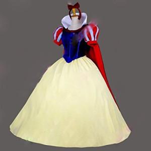 豪華版コスプレ コスプレ 衣装 ディズニー Disney 白雪姫 ドレス マント付き コスチューム