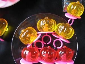 かぼちゃのおばけ キャンディー (ジュエルリング-タイプ) 60ケ おばけは一年中いそがしいのです