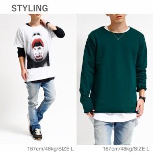 [無地Tまとめ割] ロングTシャツ 長袖Tシャツ メンズ 半袖Tシャツ Tシャツ ロンT 7分袖 七分袖 レイヤード 重ね着 ロンティー ポケット 綿