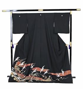 往復送料無料 2泊3日 レンタル 黒留袖 大きいサイズ No.031-0246-LOサイズ