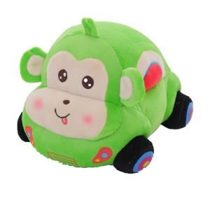 【送料無料】猿 さる サル クルマ 自動車 ぬいぐるみ おもちゃ 子供の誕生日プレゼント柔らか 可愛いヌイグルミ 置物 4色 35cm