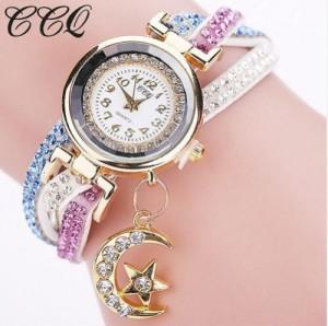 ゆうメール送料込み☆新品☆ムンスター レディース  腕時計 宝石 全2色