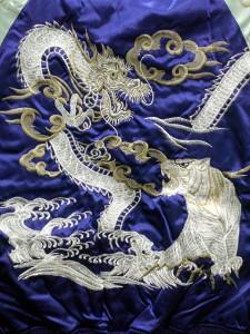スカジャン つづき竜虎 日本製本格刺繍のスカジャン