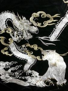 スカジャン 日本製本格刺繍のスカジャン3L